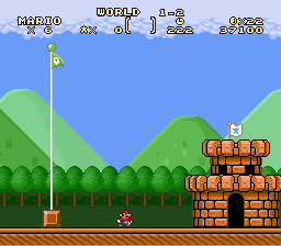 Super Mario Brothers Deluxe - wghat happened to the flag part/ - User Screenshot